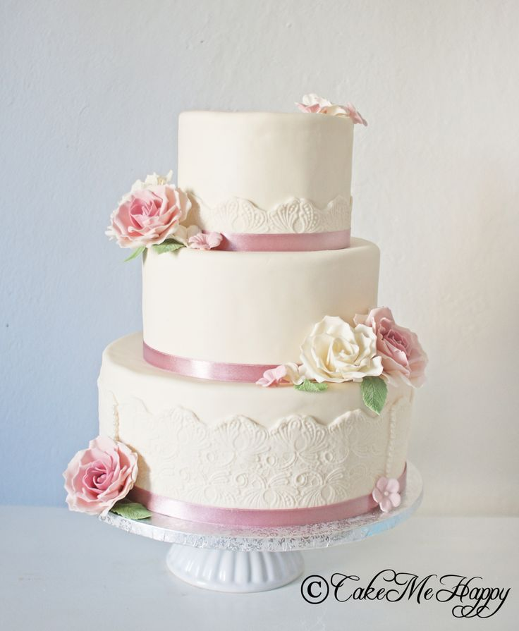 Bröllopstårta vintage roses