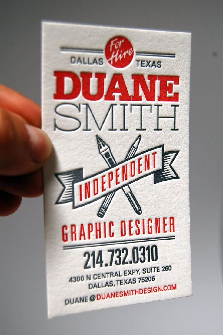 Duane Smith Business Card (printed by Mama's Sauce)