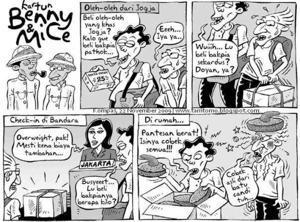 Kartun Benny & Mice - Kompas 22 November 2009: Oleh-oleh Dari Jogja