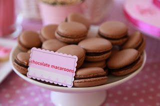 Bubble and Sweet: Chocolate Macarons and making a little macaron tower