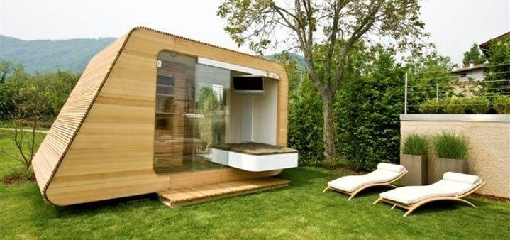 Contemporary ecological prefab micro-house D'EVA RIKO HAUS.