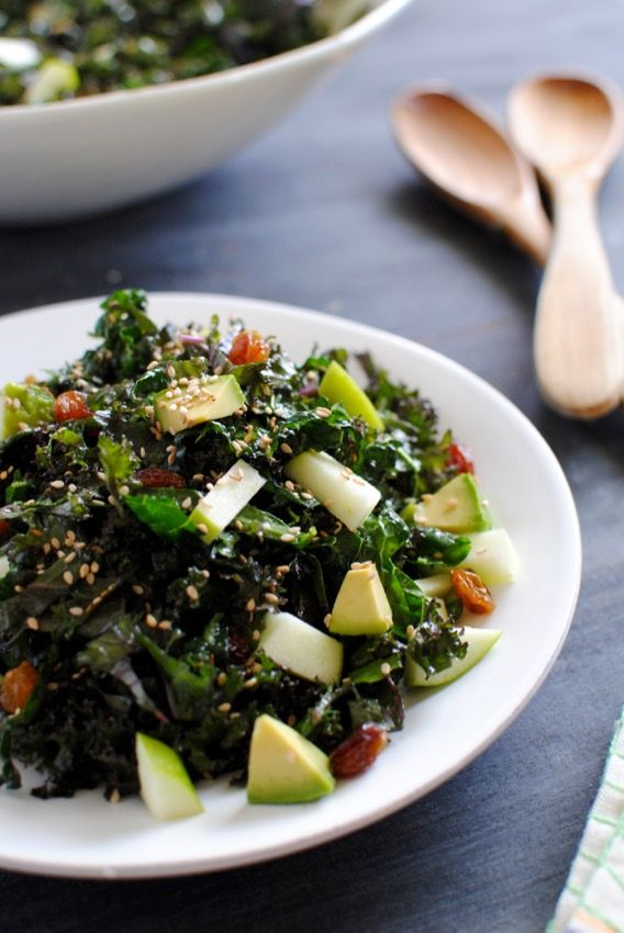 Crunchy+Kale+Salad+with+Avocado+and+Sesame