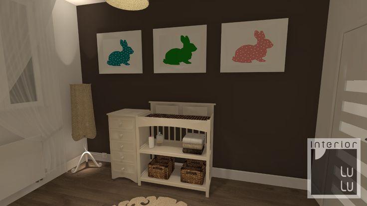Pokój dziecięcy w stonowanych kolorach