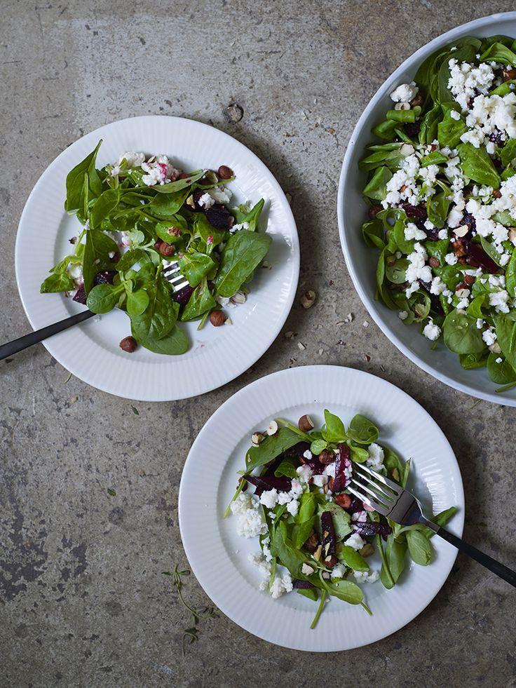 Salat med rødbeter og chevré