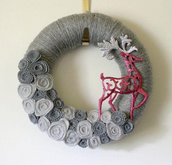 Yarn wreath!                                                                                                                                                                                 More