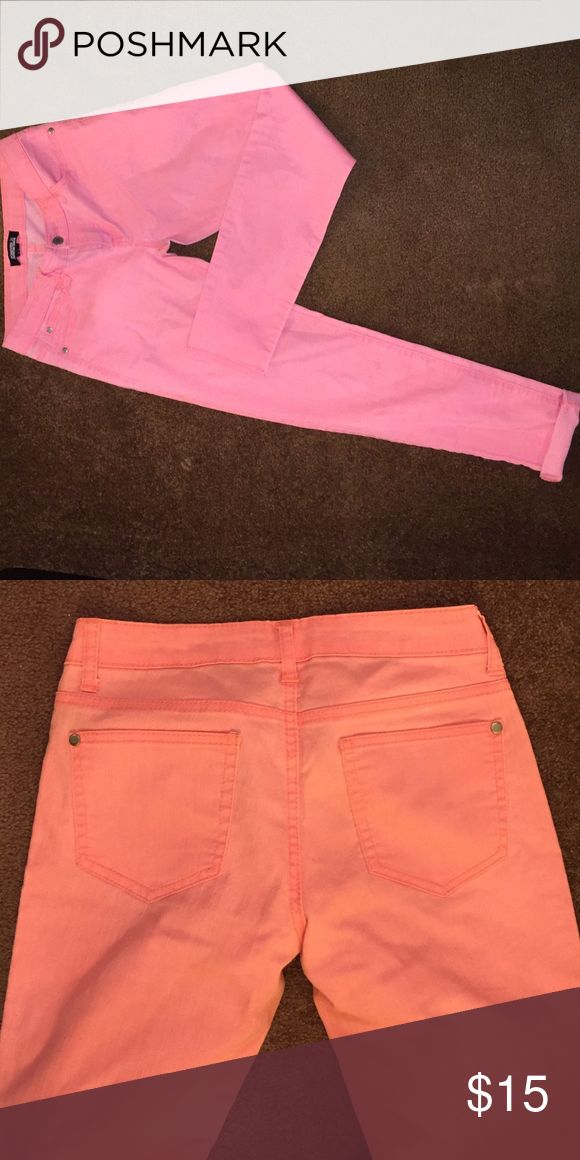 Light pink/ peach jeans Cute, comfy and fun jeans every girl needs in her closet Jeans Skinny