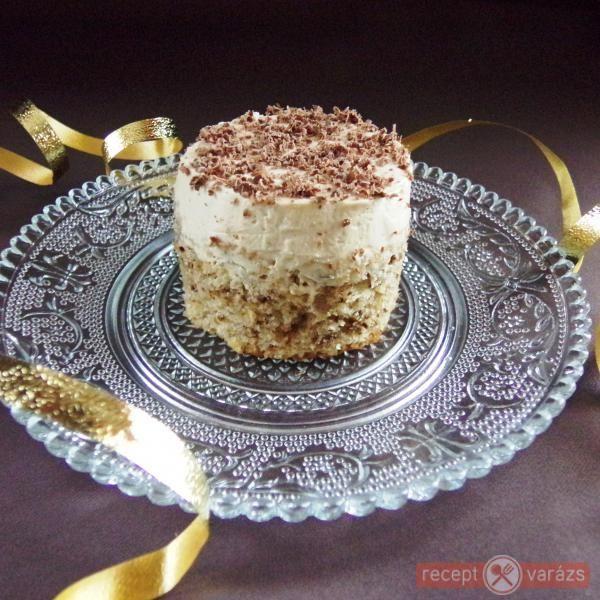 Kávékrémes-diós sütemény