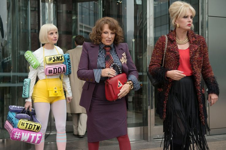 Joanna Lumley, Jennifer Saunders and Jane Horrocks in Absolutely Fabulous: The Movie