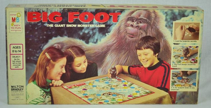 1977 Milton Bradley BIG FOOT Game Complete Very Good Cond #MiltonBradley
