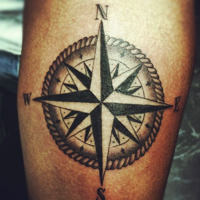 compass rose tattoo - Google Search