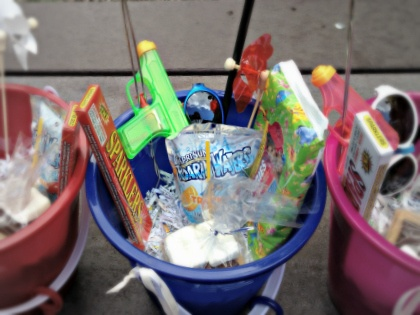 Party bucket ideas for kids - can be changed to make more adult-friendly!