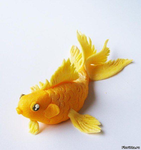 Мастер класс Рыбка золотаяиз полимерной глиныMaster