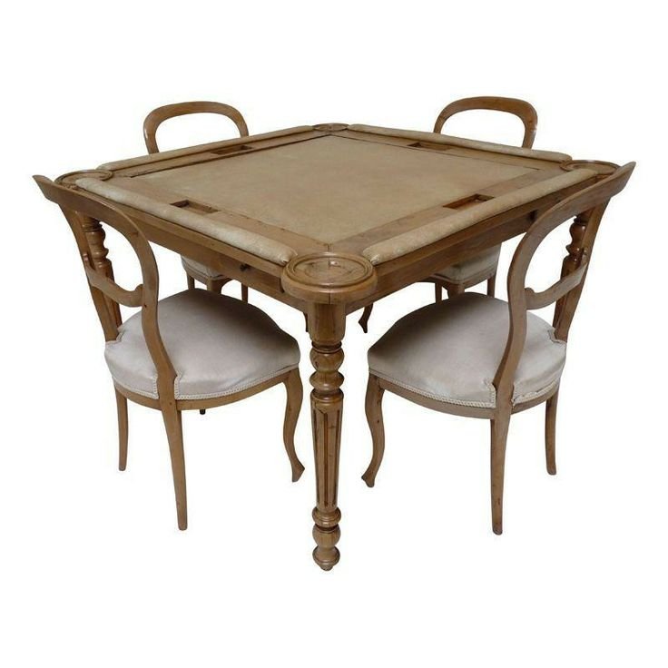 Victorian Game Table & Chair Set - $3,800 Est. Retail - $1,400 on Chairish.com