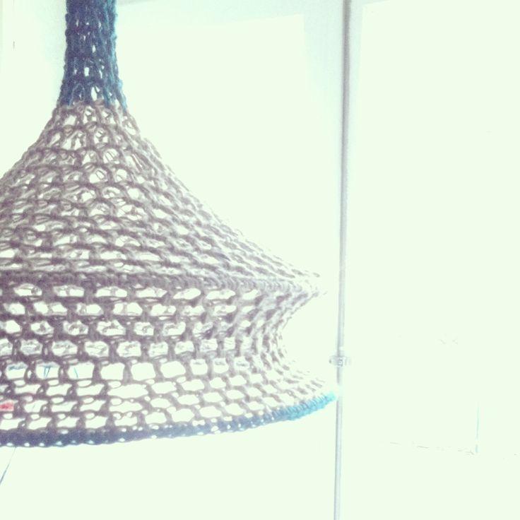 Crochet lamps blue