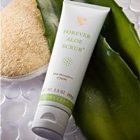 Forever Aloe Scrub (artnr 238) Forever Aloe Scrub met gestabiliseerde aloë vera verwijdert dode huidcellen. Uw huid wordt heerlijk zacht en kan beter ademen. De werking van jojoba-korrels zorgt voor een natuurlijke reiniging. Forever Aloe Scrub heeft een exclusieve geur.