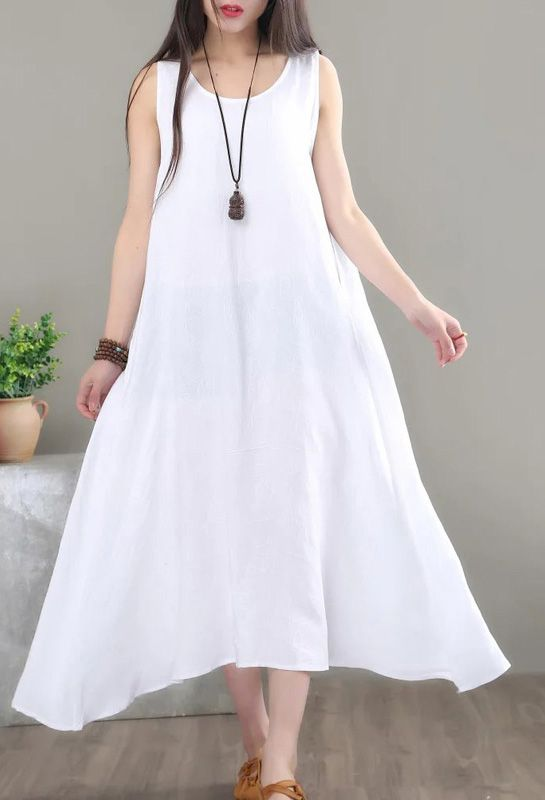 Button Dress  A-line  Cotton Dress  Sustainable Clothing  Tea Dress