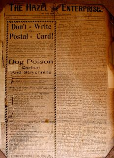 Tillman County Chronicles: 1902 Newspaper