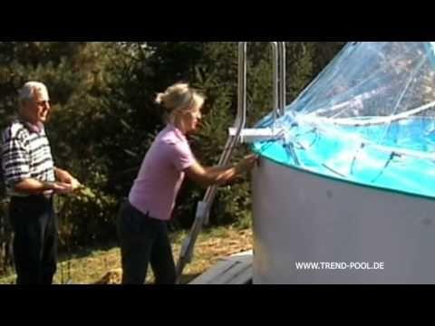 Cabrio Dome - Die kinderleichte Schwimmbadüberdachung mit Cabrio Felling! - YouTube