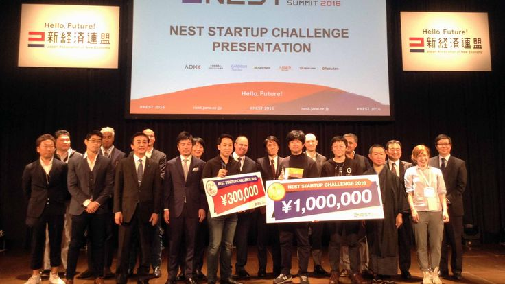 10 startups from the New Economy Summit 2016 in Tokyo. The event is hosted by the Japan Association of New Economy which is led by Hiroshi Mikitani of Rakuten.
