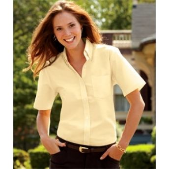 8973 UltraClub Ladies' Classic Wrinkle-Free Short-Sleeve Oxford. Buy at wholesale rates.