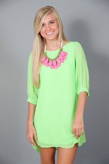 Sea Island Tunic - Neon Green