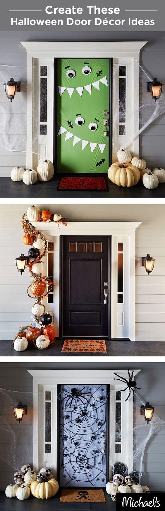 Halloween decorations Decorate your front door