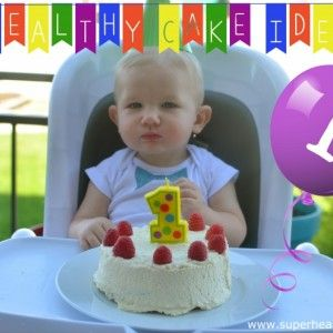 Babies First Birthday Cake (This cake is sweetened with fruit, perfect for babies first birthday-(or anytime you are in the mood for cake!)