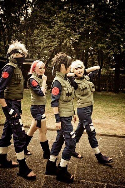 Kakashi, Sakura, Sasuke and Naruto - Naruto Shippuden #naruto #cosplay
