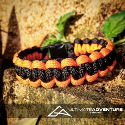 Orange and Black Paracord Survival Bracelet from www.ultimateadventures.co.za  #orange #black #bracelet #paracord #paracord550 #paracordsurvival #paracordsurvivalbracelet #survival #paracordporn #outdoorgear #survivalbracelet #survivalparacord #survivaladventure #edc #everydaycarry #adventure #survivalgear #adventuregear #adventurebracelet #ultimateadventure #ultimateadventureco #ultimateadventures #paracordon #cordcraft #craft #outdoorcraft