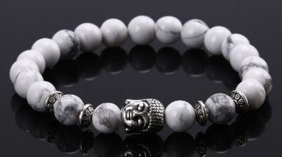 Náramek z přírodních kamenů s motivem Buddhy