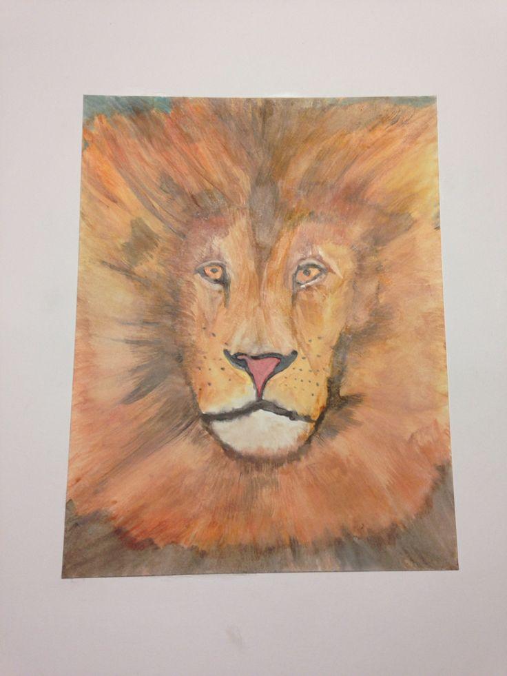 Water color lion