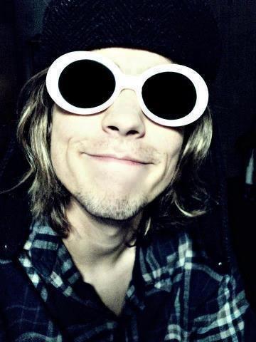 Kurt Cobain and his shades.Cx <3