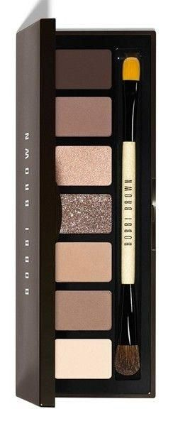Bobby Brown's Rich Chocolate Eye Palette. Shades include: - Bone - Stone - Frappe - Caramel Sparkle - Champagne Truffle Shimmer Wash - Cocoa - Rich Chocolate want this! :)