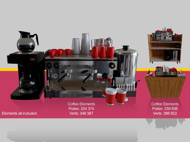 Coffee machine for barista cafeteria | 3D model