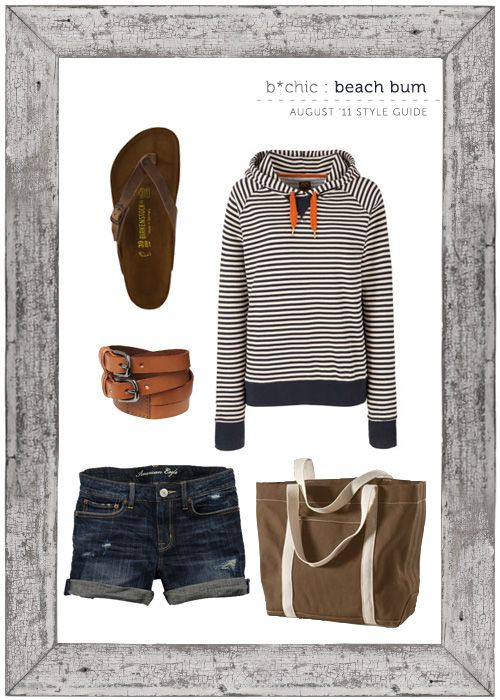 birkenstock sandals | joules sweatshirt | gap belt | AE denim shorts | lands' end tote