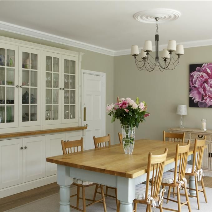 Dining Room in Clunch & Wimborne White | Farrow & Ball
