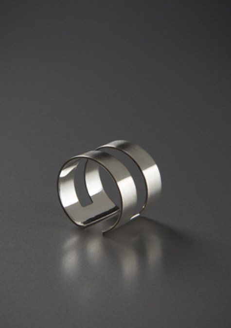 band silver ring - modern and elegant silver ring
