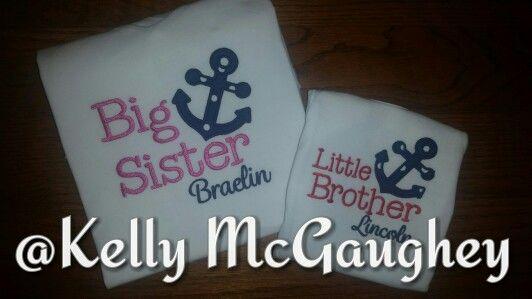 Big sis, little bro anchor shirts