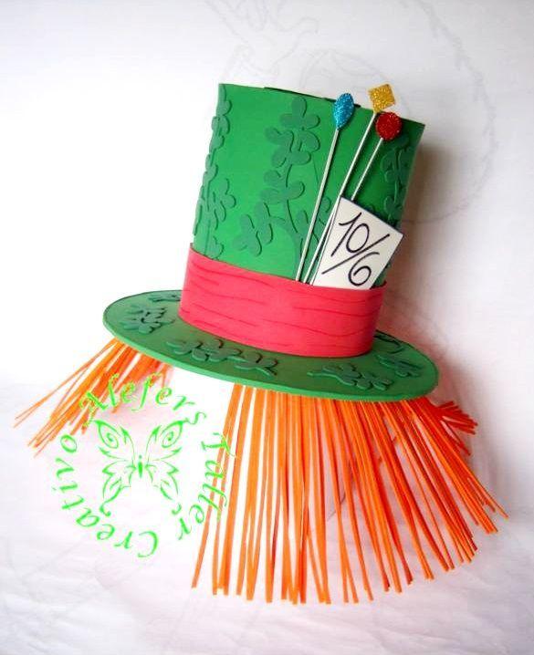 Sombrero de copa (sombrerero loco) elaborado en foami, para ...