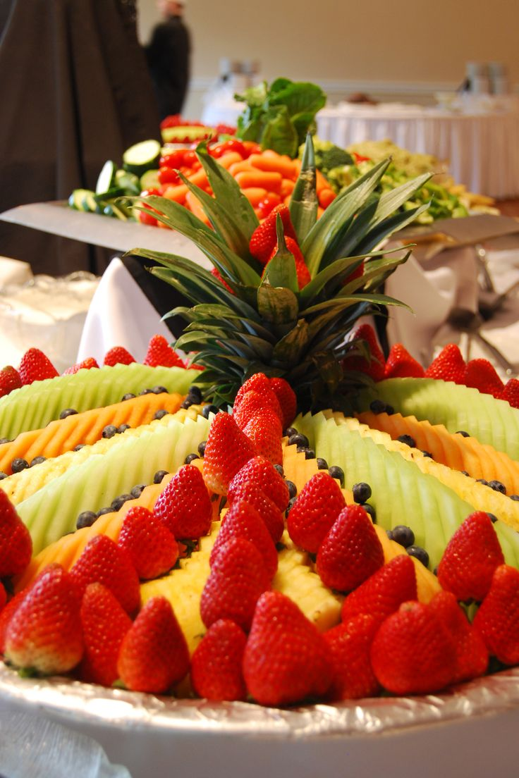 Fresh fruit and vegetable platters are always delicious!