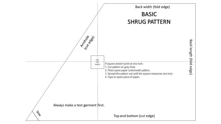 Here's an easy and free shrug or bolero pattern. You'll need only one yard of fabric.   Click here f...