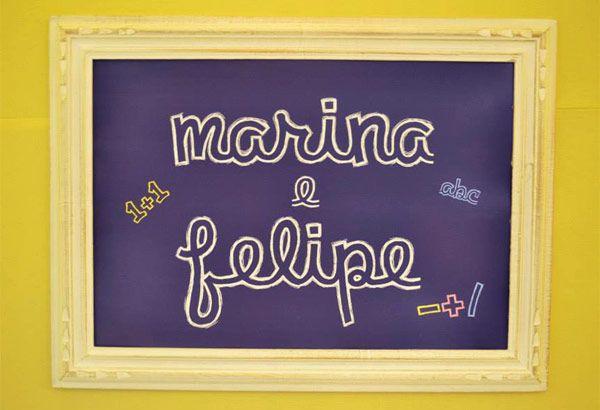 Os irmãos Marina e Felipe ganharam uma linda festinha inspirada na novela Carrossel, decorada pela Invento Festa! A ideia era não usar muitos personagens,