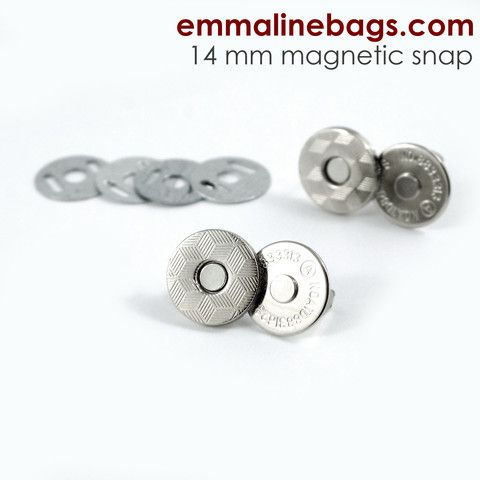 14mm magnetic snaps for handmade purses and bags