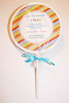 How to make a lollipop invite