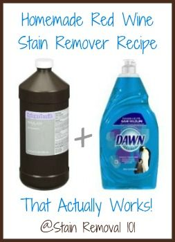 This simple homemade wine stain remover recipe beat out commercial wine stain removers in several scientific tests! Love it! {on Stain Removal 101}