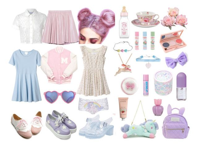 """""""Pastel set for contest"""" by ghouliette ❤ liked on Polyvore featuring Glamorous, Monki, Retrò, Ollio, 2NDDAY, cutekawaii, Cath Kidston, By Emily, Etude House and Paul & Joe"""