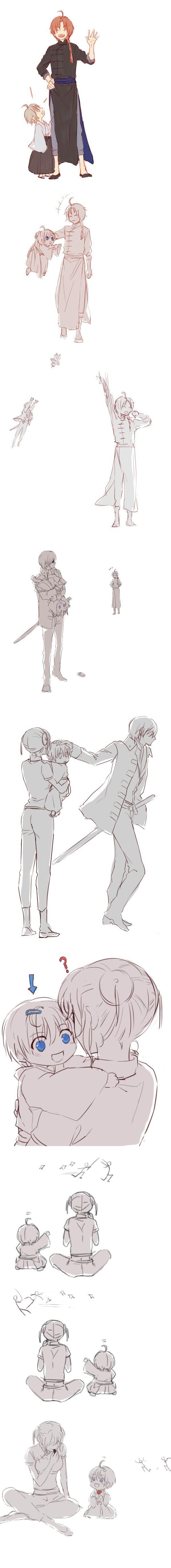 Окита Сого, Камуи, Кагура, ребёнок. ято.