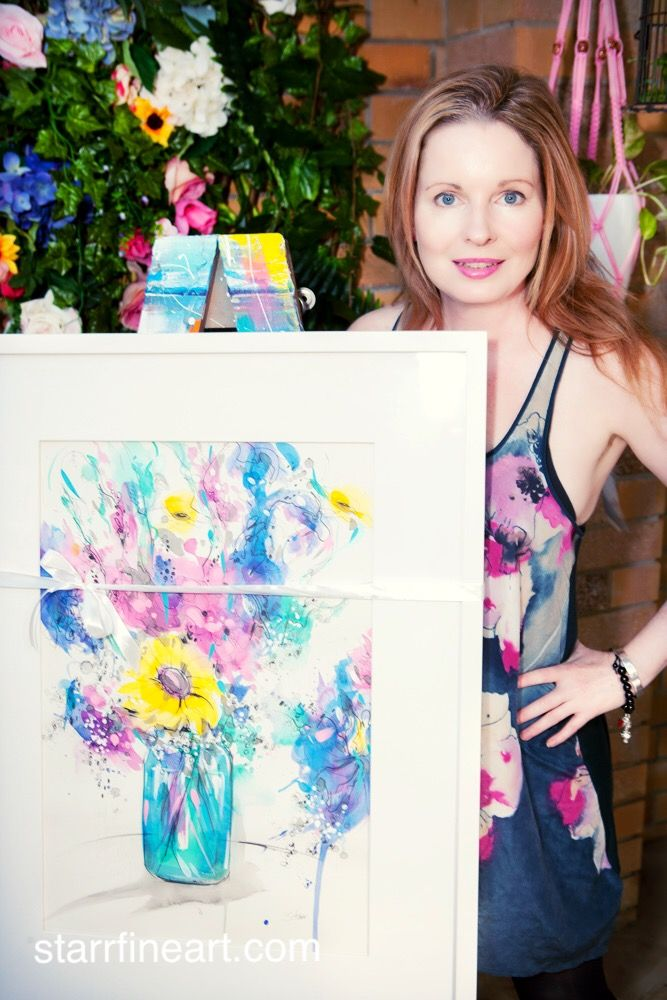 Artist STARR and her lastest watercolour \sketch painting . www.starrfineart.com