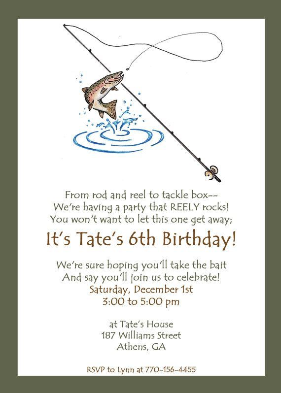 251 best images about boy 39 s fishing birthday party on for Fishing birthday party invitations