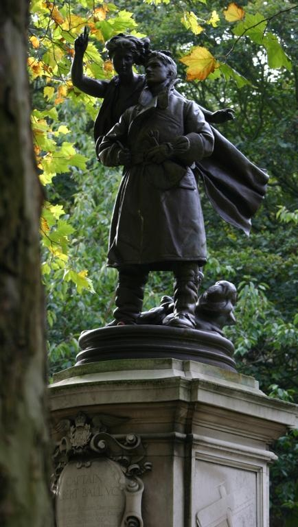 Memorial to the WW1 fighter ace Albert Ball V.C., situated on Nottingham castle green.
